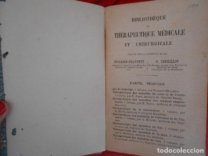Libros antiguos: THERAPEUTIQUE DES MALADIES DES ORGANES RESPIRATOIRES-H.BARTH - Foto 3 - 98833227