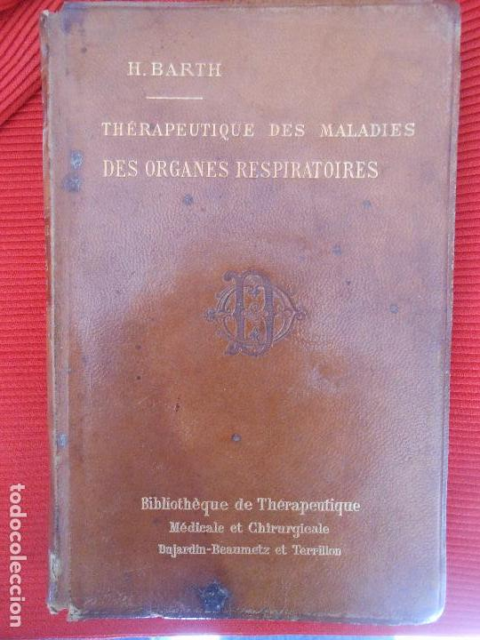 Libros antiguos: THERAPEUTIQUE DES MALADIES DES ORGANES RESPIRATOIRES-H.BARTH - Foto 4 - 98833227