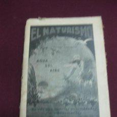 Libros antiguos: EL NATURISMO. DR. NIGRO BASCIANO. EDITORIAL BAILLY-BAILLIERE 1926. . Lote 99344143
