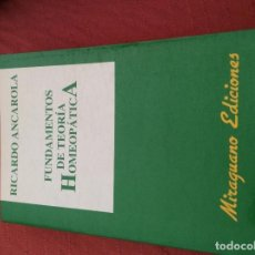 Libros antiguos: RICARDO ANCAROLA FUNDAMENTOS DE TEORIA HOMEOPATICA. Lote 99957771