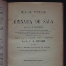 Libros antiguos: SCHREBER : MANUAL POPULAR DE GIMNASIA DE SALA MÉDICA E HIGIÉNICA, 1895. Lote 99915419