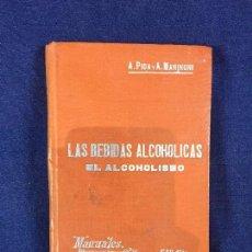 Libros antiguos: LAS BEBIDAS ALCOHOLICAS EL ALCOHOLISMO MANUALES L II SOLER Nº 52 PPIO S XX. Lote 100604543