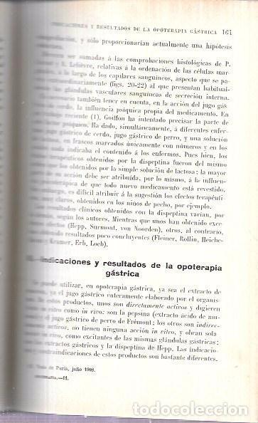 Libros antiguos: OPOTERAPIA. MEDICAMENTOS ANIMALES. BIBL. DE TER. GILBERT Y CARNOT. DR. PABLO CARNOT. SALVAT Y Cª - Foto 3 - 172638379