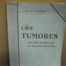 Libros antiguos: LOS TUMORES. LECCIONES ELEMENTALES DE ANATOMIA PATOLOGICA. DR. L. URTUBEY. Lote 101441899