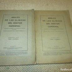 Libros antiguos: ANALES DE LAS CLÍNICAS DEL DOCTOR CARDENAL CATEDRÁTICO DE CIRUGÍA DE LA UNIVERSIDAD DE MADRID 1917. Lote 103146399