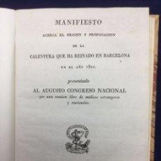 Libros antiguos: ORIGEN Y PROPAGACIÓN DE LA CALENTURA QUE HA REINADO EN BARCELONA EN EL AÑO 1821. Lote 42163953