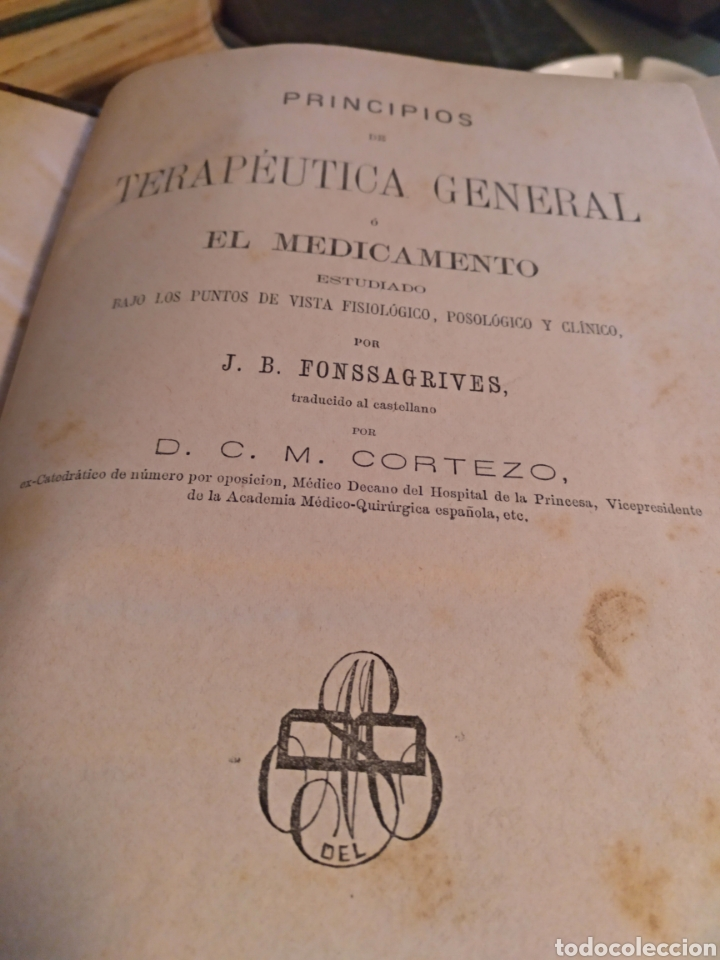 Libros antiguos: terapeutica general fonssagrives 1877 - Foto 2 - 103917570