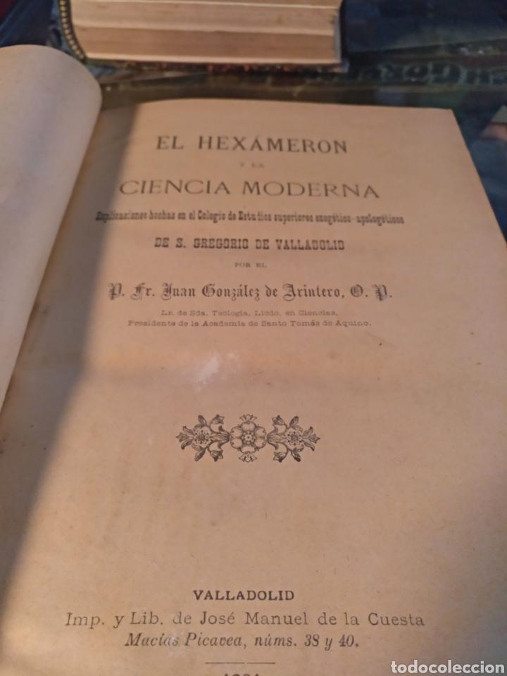 EL HEXAMERON DE LA CIENCIA MODERNA (Libros Antiguos, Raros y Curiosos - Ciencias, Manuales y Oficios - Medicina, Farmacia y Salud)