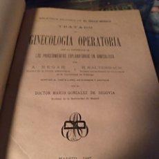 Libros antiguos: GINECOLOGÍA OPERATORIA A. HEGAR 1887. Lote 103961840