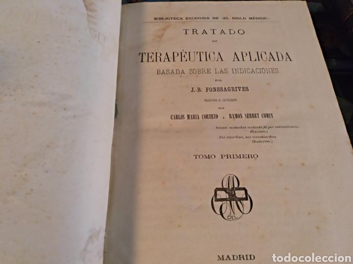 Libros antiguos: Tratado de terapeutica aplicada Fonssagrives 3 tomos - Foto 3 - 104024924