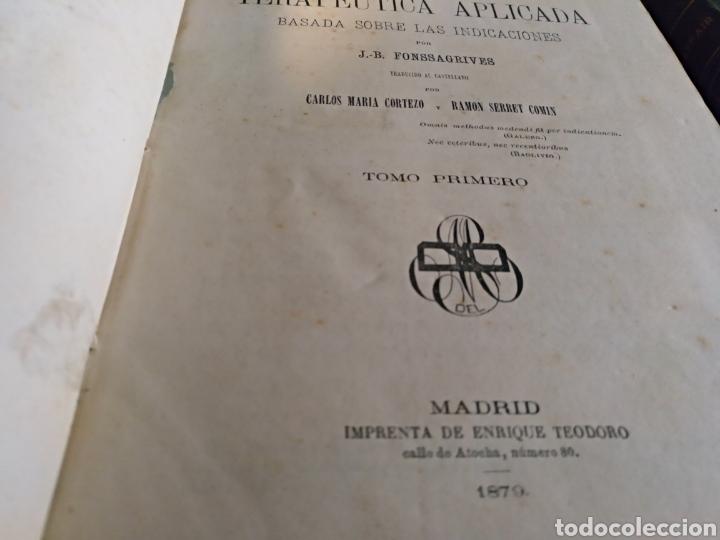 Libros antiguos: Tratado de terapeutica aplicada Fonssagrives 3 tomos - Foto 4 - 104024924