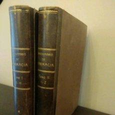 Libros antiguos: DICCIONARIO DE FARMACIA - TOMOS I - II DEL COLEGIO DE FARMACÉUTICOS DE MADRID 1865. Lote 104358495