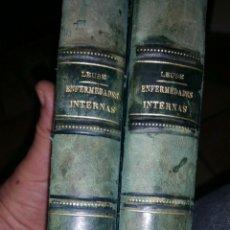 Libros antiguos: DIAGNÓSTICO ESPECIAL DE LAS ENFERMEDADES INTERNAS AÑO 1898 2 TOMOS DOCTOR LEUBE. Lote 104767691