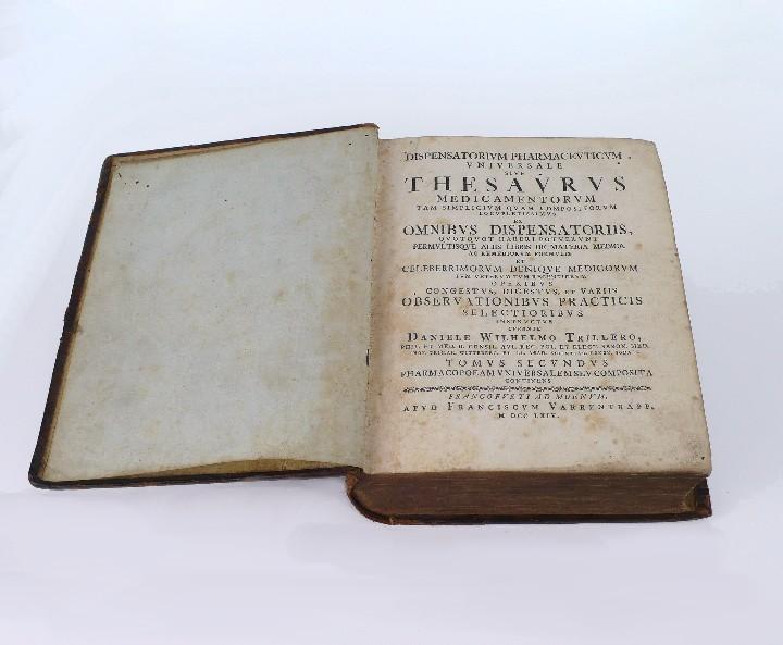 Libros antiguos: DANIELE WILHELMO TRILLERO- DISPENSATORIUM PHARMACEUTICUM UNIVERSALE SIVE THESAURUS- 1764 - Foto 6 - 53772747