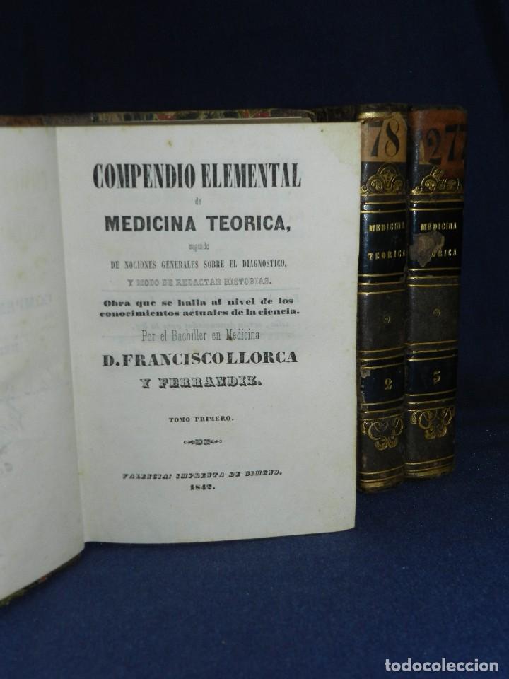 (MF) D FRANCISCO LLORCA Y FERRANDIZ - COMPENDIO ELEMENTAL DE MEDICINA TEORICA , VALENCIA 1842 (Libros Antiguos, Raros y Curiosos - Ciencias, Manuales y Oficios - Medicina, Farmacia y Salud)