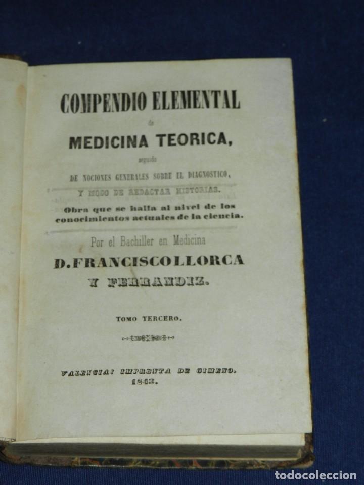 Libros antiguos: (MF) D FRANCISCO LLORCA Y FERRANDIZ - COMPENDIO ELEMENTAL DE MEDICINA TEORICA , VALENCIA 1842 - Foto 3 - 105886235
