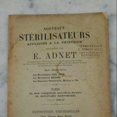 Libros antiguos: CATÁLOGO MEDICINA PRODUCTOS PARA ESTERELIZAR E. ADNET EN FRANCÉS 1898. Lote 105886872