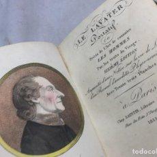 Libros antiguos: LE LAVATER PORTATIF OU L'ART CONNAITRE LES HOMMES 1815 CON 33 GRABADOS TEXTO EN FRANCÉS PASTA DURA. Lote 106322135