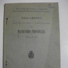 Libros antiguos: 1909 REGLAMENTO PARA EL REGIMEN Y ADMINISTRACION DEL MANICOMIO PROVINCIAL DE SALT GERONA . Lote 106583475
