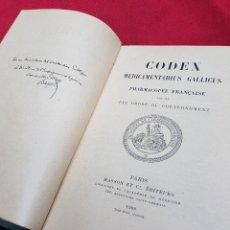 Libros antiguos: CODEX MEDICAMENTARIUS GALLICUS PHARMACOPÉE FRANÇAISE 1908. Lote 106992035