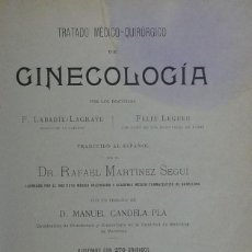 Libros antiguos: (MEDICINA) TRATADO MÉDICO-QUIRÚRGICO DE GINECOLOGÍA - F. LABADÍE-LAGRAVE. Lote 107029747