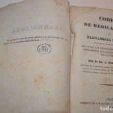 Libros antiguos: CÓDIGO DE MEDICAMENTOS O FARMACOPEA FRANCESA. DR. N.R. SANCHIZ 1840 - AMSM. Lote 107182331