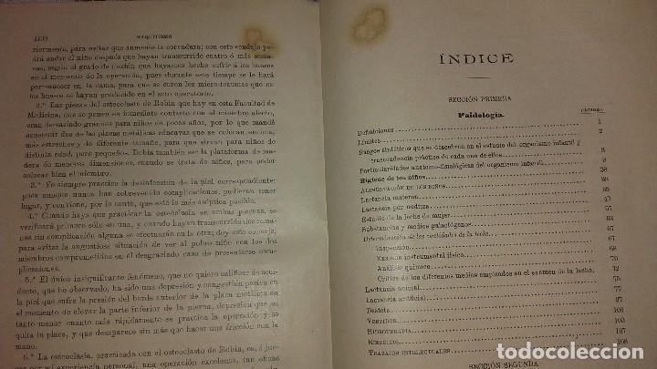 Libros antiguos: Tratado de las enfermedades de los niños Criado y Aguilar 1902 - Foto 3 - 107265099