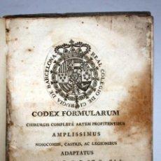 Libros antiguos: CODEX FORMULARUM, CHIRURGIS COMPLETÉ FARMACIA THOMAS PIFERRER. AÑO 1771. Lote 107828859