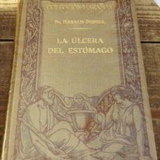 Libros antiguos: COLECCIÓN MARAÑÓN : HARALD OHNELL - LA ÚLCERA DEL ESTÓMAGO (MARIN, 1929). Lote 108239711