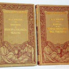 Libros antiguos: ESTUDIOS DE FISIOPATOLOGIA SEXUAL/ MANUAL DE ENFERMEDADES DEL TIROIDES. (2 LIBROS). Lote 108287823