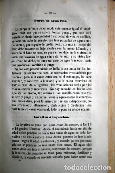 Libros antiguos: 1869 EL REGENERADOR DE LA NATURALEZA - MEDICINA NATURAL - PANACEA UNIVERSAL - 2 Tomos - RARO MOMBRU - Foto 9 - 108385911