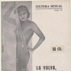 Libros antiguos: CULTURA SEXUAL Nº 15. LA VULVA,ÓRGANO DE LA SENSUALIDAD. PUBLICACIONES MODERNAS - 1935? RARO.... Lote 108710551