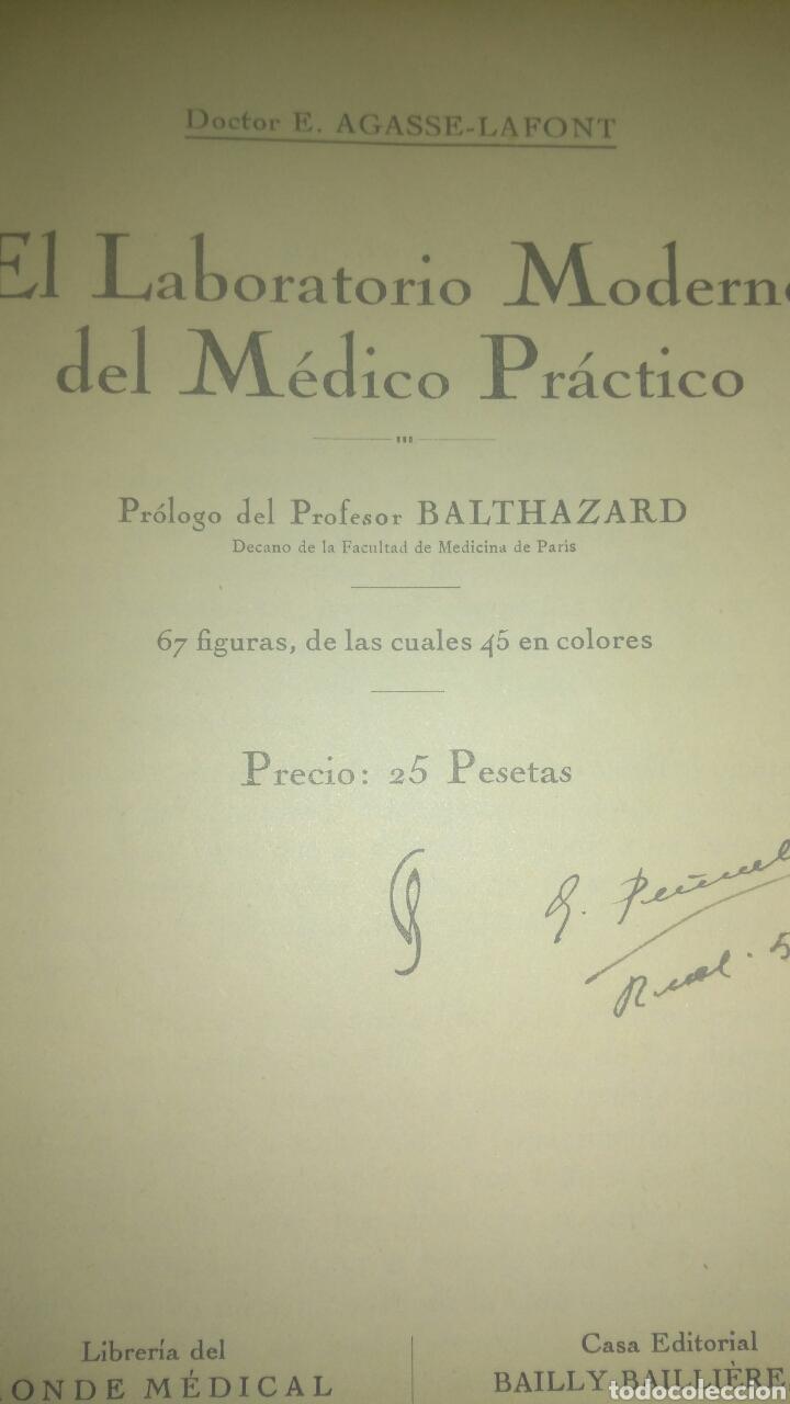 Libros antiguos: EL LABORATORIO MODERNO DEL MÉDICO PRÁCTICO. DOCTOR E. AGASSE LAFONT. BAILLY BAILLIÈRE S.A. 1933. CAR - Foto 2 - 108860618