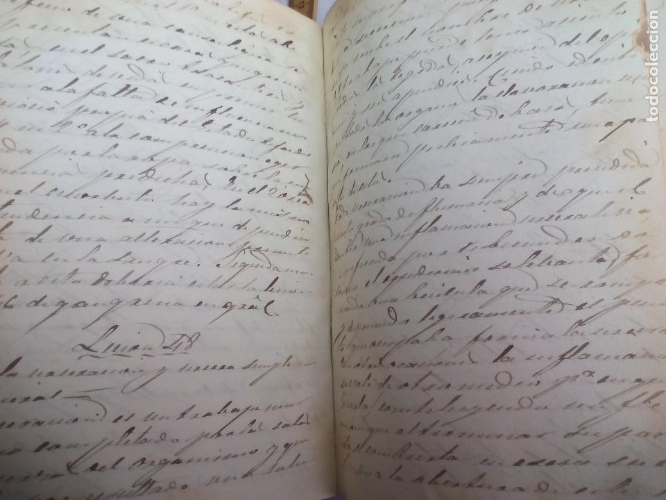 Libros antiguos: Antiguo libro manuscrito apuntes de farmacologia y materia médica. Farmacia, medicina. - Foto 6 - 109277511