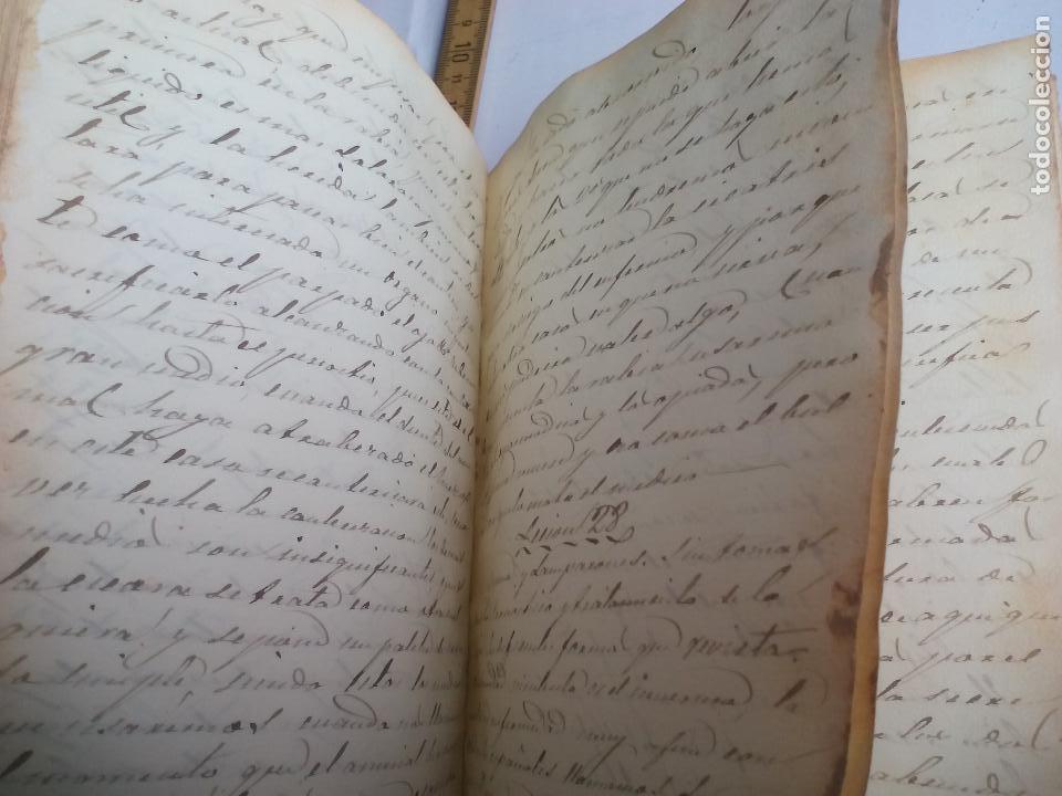 Libros antiguos: Antiguo libro manuscrito apuntes de farmacologia y materia médica. Farmacia, medicina. - Foto 7 - 109277511