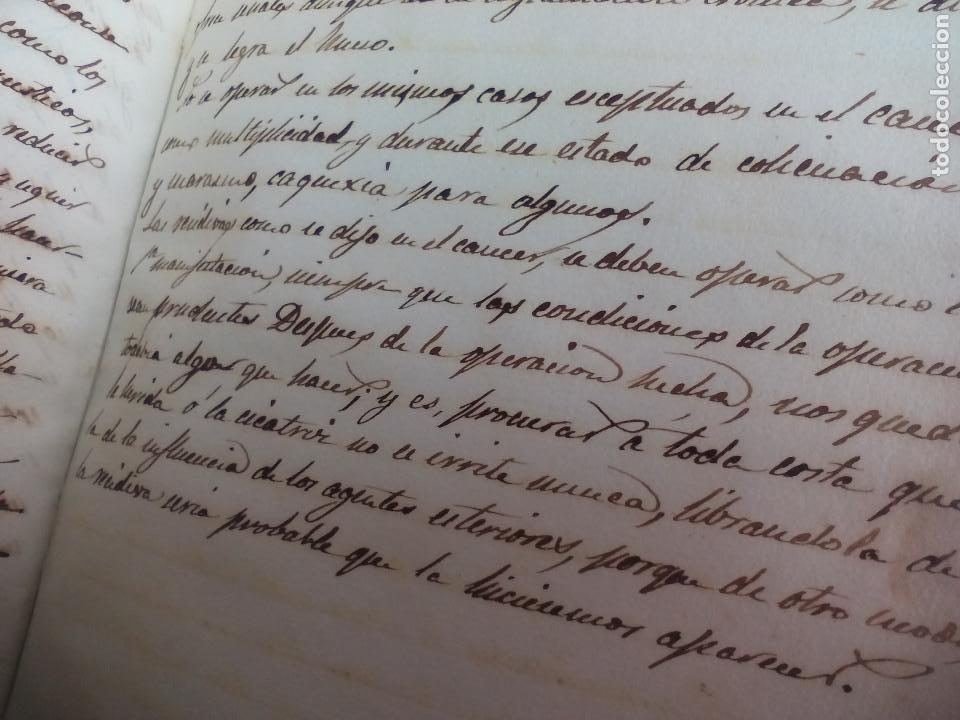 Libros antiguos: Antiguo libro manuscrito apuntes de farmacologia y materia médica. Farmacia, medicina. - Foto 9 - 109277511