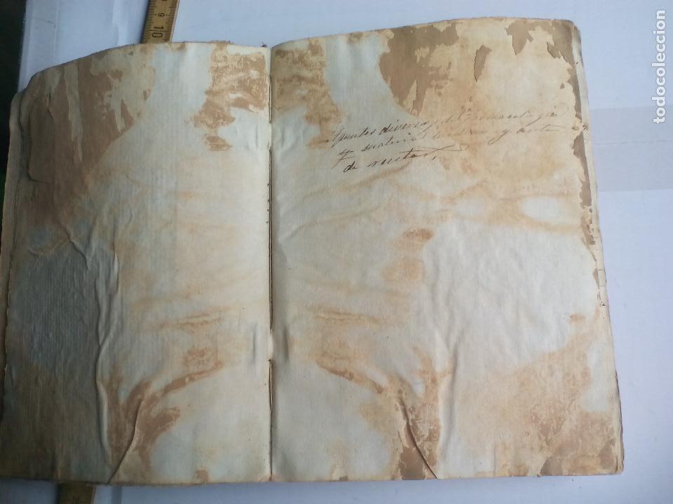 Libros antiguos: Antiguo libro manuscrito apuntes de farmacologia y materia médica. Farmacia, medicina. - Foto 10 - 109277511