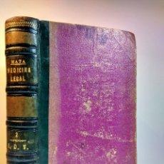 Libros antiguos: TRATADO DE MEDICINA Y CIRUGÍA LEGAL. 2. MATA, PEDRO. CARLOS BAILLY-BAILLIERE, 1874. 5ª ED MEJORADA. Lote 109913199