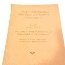 Libros antiguos: II CONGRES INTERNATIONAL DE OTO RHINO LARYNGOLOGIE MADRID SEPTIEMBRE 1934.. Lote 110087179