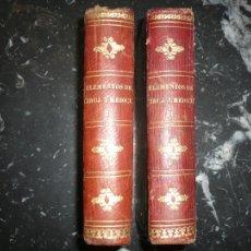 Libros antiguos: NUEVOS ELEMENTOS CIRUJIA MEDICINA HOMEOPATIA 1846 MADRID 2 TOMOS . Lote 110902975