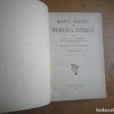 Libros antiguos: MANUAL PRACTICO DE MEDICINA INTERNA DR. A. VON DOMARUS MANUEL MARIN EDITOR 1930. Lote 110981335