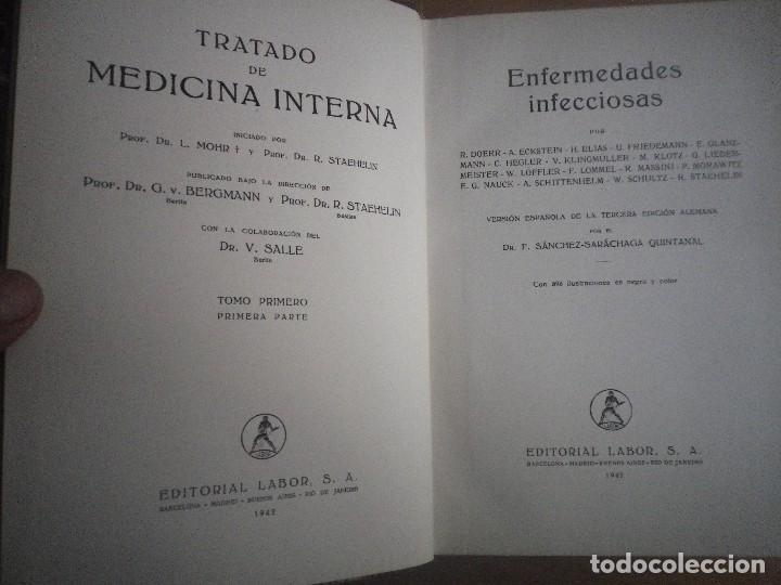 Libros antiguos: TRATADO DE MEDICINA INTERNA 2 TOMOS 4 LIBROS EDITORIAL LABOR - Foto 3 - 110993043