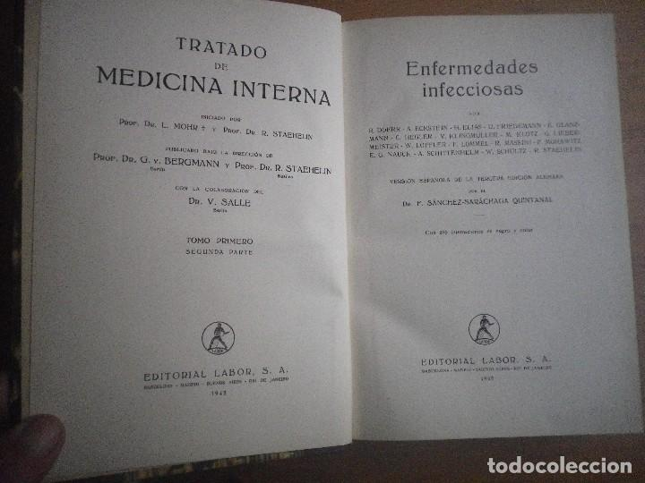 Libros antiguos: TRATADO DE MEDICINA INTERNA 2 TOMOS 4 LIBROS EDITORIAL LABOR - Foto 4 - 110993043
