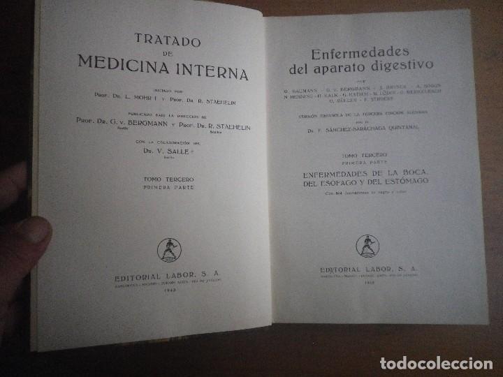 Libros antiguos: TRATADO DE MEDICINA INTERNA 2 TOMOS 4 LIBROS EDITORIAL LABOR - Foto 5 - 110993043