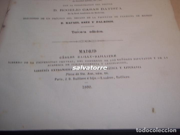 Libros antiguos: DORVAULT.LA BOTICA.FARMACIA.1880.MEDICINA.FORMULAS MAGISTRALES.MATERIALES,HOMEOPATIA. - Foto 5 - 111302987