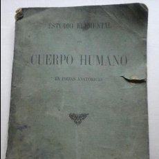 Libros antiguos: ESTUDIO ELEMENTAL DEL CUERPO HUMANO. Lote 111497699