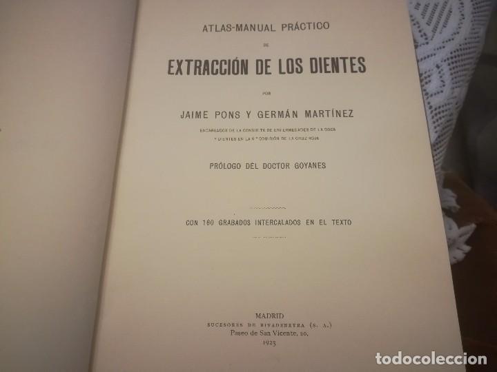 Libros antiguos: Libro atlas manual práctico de extracción de los dientes con 160grabados 1923 m. Fotos - Foto 6 - 111830527