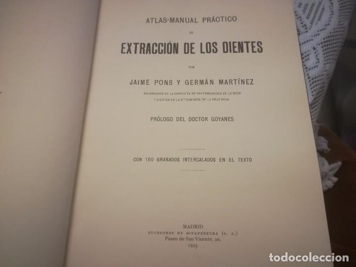 Libros antiguos: Libro atlas manual práctico de extracción de los dientes con 160grabados 1923 m. Fotos - Foto 9 - 111830527