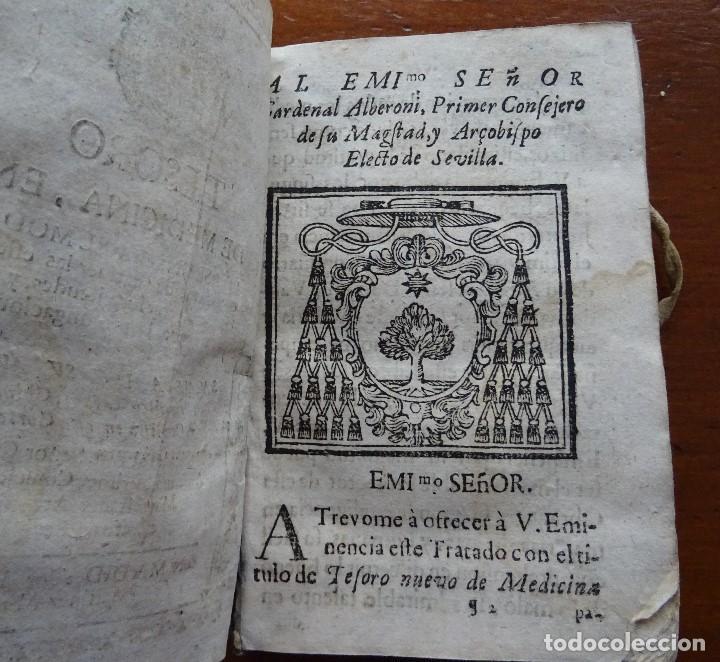 Libros antiguos: Tesoro de Medicina, Francisco Legros, 1717?, 204 pags, 8ª, tapas pergamino - Foto 4 - 112358035