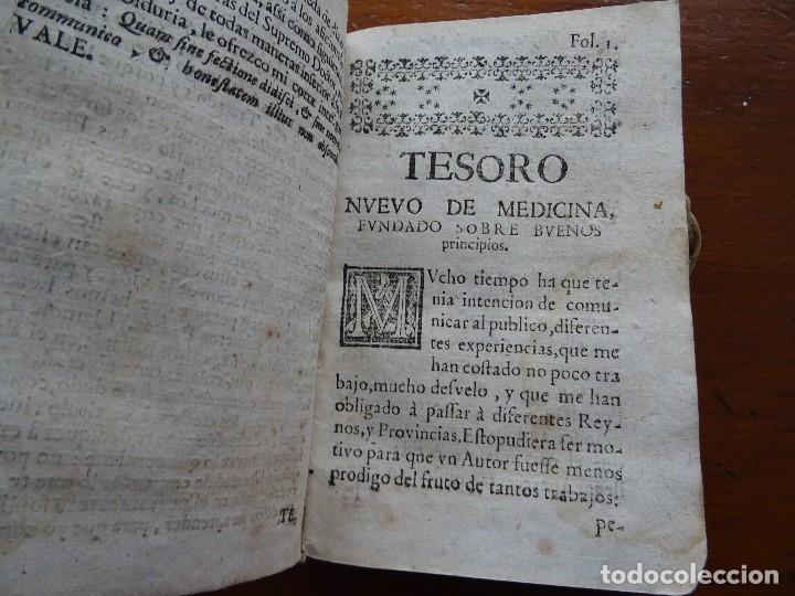 Libros antiguos: Tesoro de Medicina, Francisco Legros, 1717?, 204 pags, 8ª, tapas pergamino - Foto 5 - 112358035
